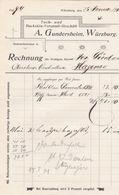 WURZBURG A GUNDERSHEIM TUCH UND BUCKSKIN VERSANDTGESCHAFT ANNEE 1900  A MR DERNBACH HAGUENAU - Allemagne