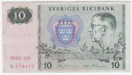 Sweden P 52 E - 10 Kronor 1984 - Fine+ - Suède