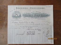 CAMBRAI LOUIS REY EPICERIES. DROGUERIES RUE DE L'ARBRE D'OR 6.8 ET 13 FACTURE DU 23 JUIN 1914 - France