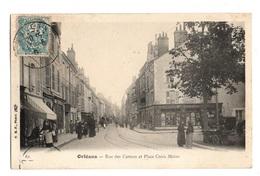 45 LOIRET - ORLEANS Rue Des Carmes Et Place Croix Morin (voir Description) - Orleans