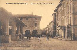 MONTESQUIEN-VOLVESTRE : LA PLACE ET LA RUE DE LA PORTE DE RIEUX - Autres Communes