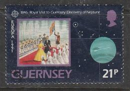 Guernsey 1991 EUROPA Stamps - European Aerospace 21p Multicolored SW 513 O Used - Guernsey