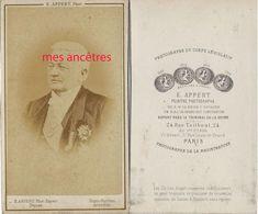 CDV Homme Identifié- Adolphe THIERS- Photo Appert à Paris - Old (before 1900)