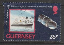 Guernsey 1991 EUROPA Stamps - European Aerospace 26p Multicolored SW 515 O Used - Guernsey