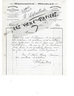 91 - Essonne - MEREVILLE - Facture LAFEUILLADE - Menuiserie, Meubles - 1912 - REF 151 - 1900 – 1949