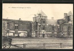 CPA Coulonges Sur L'Autize, Chateau Vom Hof Aus - Coulonges-sur-l'Autize