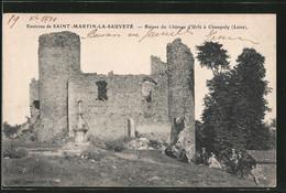 CPA Saint-Martin-la-Sauvete, Ruines Du Chateau D'Urfe A Champoly - Frankreich