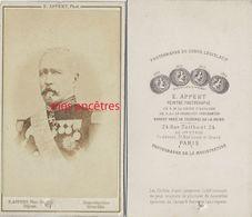 CDV  Général TROCHU ?- Photo Appert à Paris - War, Military