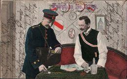 ! Ansichtskarte Geld Briefträger, Student, Studentika, 1907, Mannheim - Correos & Carteros