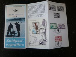 "BELG.1966 1391/93 & BL42 NL.folder Met Zegel 1édag Stempel  :  "" Zuidpoolexpidities "" - FDC"