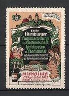 Reklamemarke Eilenburg, Fachausstellung Für Gastwirtschaft Und Hotelwesen 1912, Schloss Und Delikatessen - Vignetten (Erinnophilie)