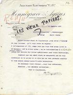 """92 - Hauts-de-seine - LEVALLOIS-PERRET - Facture HENNEGRAVE & AGNUS - Allumage électrique """"C.H."""" - 1908 - REF 151 - 1900 – 1949"""