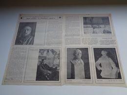 """Origineel Knipsel ( 83 ) Uit Tijdschrift """" Ons Volk Ontwaakt """" 1924 : Dolf Ledel  P. Cockx Schaarbeek Elsene Ukkel Uccle - Non Classés"""