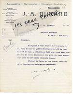 92 - Hauts-de-seine - PUTEAUX - Facture DURAND - Autos, Carrosserie, Mécanique - 1919 - REF 151 - 1900 – 1949