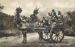 ETRANGER 51 -   CPA  Original  Palermo Carro Siciliano Attelage Cheval De Parade Voir Scan Recto Verso - Palermo