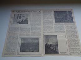 """Origineel Knipsel ( 91 ) Uit Tijdschrift """" Ons Volk Ontwaakt """" 1924 :  Albijn Van Den Abeele  Sint - Martens - Latem - Vieux Papiers"""