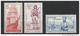 """Nle-Caledonie YT 190 à 192 """" Défense De L'Empire """" 1941 Neuf** - Nouvelle-Calédonie"""