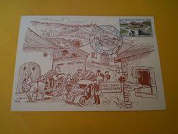 Journée Du Timbre NANCY 1958, Carte Maximum , 2 CV Citroen Distribution Postale Motorisée - Nancy
