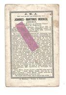 D 988. JOANNES-MARTINUS INDEKEU -Grondeigenaar Brouwer / Majoor Burgerwacht - °MEUWEN 1830 En Aldaar + 1866 - Images Religieuses
