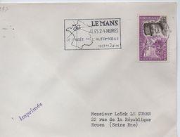 LE MANS:LES 24 HEURES.10-11-JUIN 1961. - Marcophilie (Lettres)