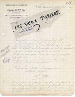 95 - Val-d'oise - ARGENTEUIL - Facture PETIT - Menuiserie, Parquets - 1920 - REF 151 - 1900 – 1949