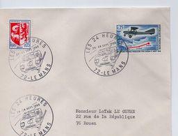 LE MANS:LES 24 HEURES.28-29-sept 1968. - Marcophilie (Lettres)