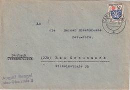 ALLEMAGNE 1948 ZONE FRANCAISE LETTRE DE IDAR OBERSTEIN - Zone Française