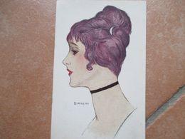 Donnine Woman Illustratore BIANCHI Profilo Acconciatura Collo/viso1918 - Non Classificati