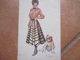 Donnine Woman Illustratore M.Imfron Boxer Caschetto St Ivaletti Gonna Lg1917 Viaggiata Affrancata POSTA MILITARE Censura - Non Classificati