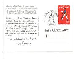 CPM - JOURNÉ DU TIMBRE PARIS 1993 - Souvenir Offert Aux Postiers - 1990-1999