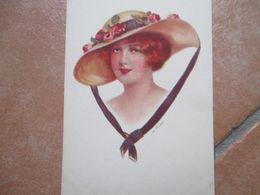 Donnine Woman Illustratore FISHER Cappello Falde Larghe Nastro 116 - 1 - Fisher, Harrison