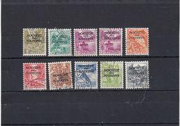 Suisse - Année 1937 - Service - Oblitéré - N°Zumstein 47y/55y+49Ay - SDN - Paysages TD - Service