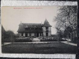 Carte Postale De Nuit Dans Leur La Villa Normande De La Motte Rollin - Muids
