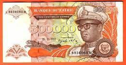 ZAIRE  Billet  500.000 Zaires  05 03 1992  Pick 43  UNC - Zaire