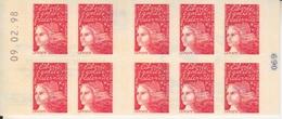 Marianne De Luquet, TVP Carnet De 10 TP N° 3085-C3 (Le Timbre, Un Plaisir Qui Se Communique), Neuf ** + Coin Daté - Usage Courant