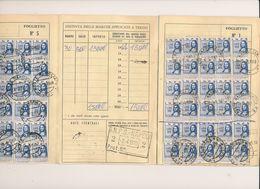 MARCHE DA BOLLO MARCA DA BOLLO REVENUE REVENUES 1965 LIBRETTO INPS CON 150 MARCHGE DA 500 LIRE - Zonder Classificatie