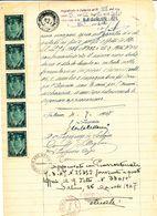 1947 PRO VITTIME POLITICHE SALVO D'AQUISTO STRISCIA DI 5 NUOVA SU DOCUMENTO - Vecchi Documenti