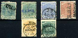 España (telégrafos) Nº 60d/62d, 66/7. Año 1921/31 - Non Classés