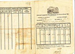 1869 VIESTE AVVERTIMENTO PER IL PAGAMENTO DELLA CONTRIBUZIONE FONDIARIA - Vecchi Documenti