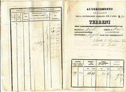 1870 PROCIDA ISOLA DI PROCIDA  AVVERTIMENTO PER IL PAGAMENTO DELLA CONTRIBUZIONE FONDIARIA - Vecchi Documenti