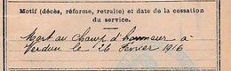 CLASSE 1910 - MORT à VERDUN 1916 - Livret Mre De Léon DELMAS De CREISSELS - 160° Rgt D'Infanterie - Documents Historiques