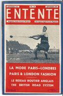 Entente Magazine Anglo Français Bilingue Anglo French   N° 66    Semptembre  1947 September Mode Paris Londres - Libros, Revistas, Cómics