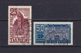 Danzig - 1936 - Michel Nr. 264 + 266 - Gestempelt - 32 Euro - Danzig