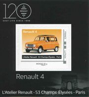VINTAGE A QUATRE ROUES De 2018 - Mini Collector RENAULT 4 - MONDE 50 G - France
