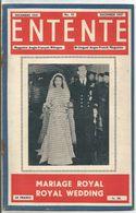 Entente Magazine Anglo Français Bilingue Anglo French   N° 68    Décembre  1947 December  Mariage Royal  Royal Wedding - Libros, Revistas, Cómics