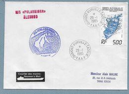 """2 - TAAF PO101 Du 29.1.1985 Terre Adélie. Cachets Du POLARBJORN. étiquette """" Seamen's Mail """" - Lettres & Documents"""