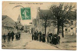 CHARNY La Poste Et Rue Belle Eglise - Francia