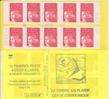 Marianne De Luquet, TVP Rouge 2 Carnets De 10 TP N° 3085a-C3 (Le Timbre Un Plaisir Qui Se Communique), Neuf ** - Carnets