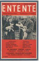 Entente Magazine  Bilingue Anglo French   N° 60  Février Mars  1947  February March  Le Président Vincent Auriol - Libros, Revistas, Cómics