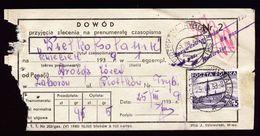 A6706) Polen - Frankierter Einlieferungsschein 25.03.39 Mit 5 Gr.-Frankatur - 1919-1939 Republik
